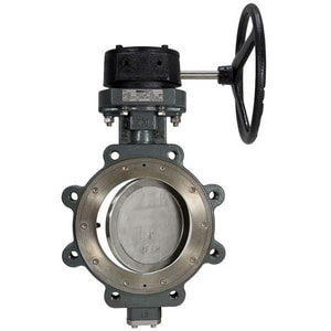 Nibco 300 psi Carbon Steel Lug Gear Operator Butterfly Valve NLCS78225
