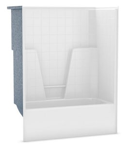 Aker Plastics 60 x 33 in. Tub and Shower with Left Hand Drain A105215000002001