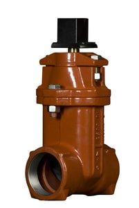 American Flow Control Ductile Iron Threaded Open Left Resilient Wedge Gate Valve AFC25SSTOL