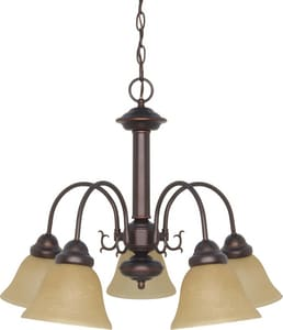 Ballerina 60W 5-Light Medium E-26 Incandescent Chandelier with Champagne Linen Glass N601251