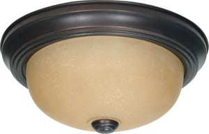 Nuvo Lighting 2 Light 60W A19 Flush Mount Ceiling Fixture Mahogany Bronze N601255
