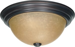 Nuvo Lighting 60W 3-Light Flush Mount Ceiling Light N601256