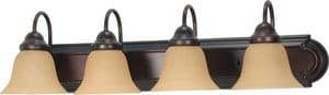 Nuvo Lighting Ballerina 4 Light 100W 30 in. A19 Wall Mounted Vanity Light Bar with Champagne Linen Glass N60126