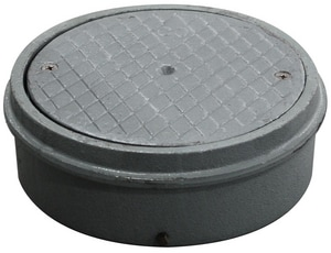 Sioux Chief 8- 1/2 in. Cast Iron Heavy Duty Accessess Cover for Large Connection S8504I