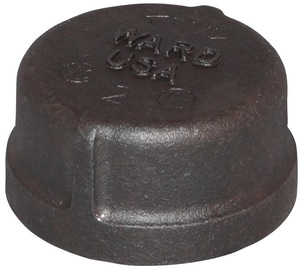 Threaded 150# Black Malleable Iron Cap BCAP