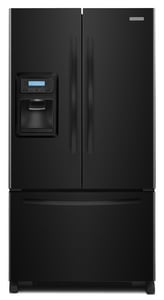 Kitchenaid Architect® 20 cf 29-3/16 in. French Door Counter Depth Refrigerator in Black KKFIS20XVBL
