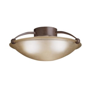 Kichler Lighting 60W 3-Light Medium Flush Mount KK8406TZ