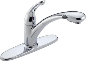 Delta Faucet Signature® Pull-Out Kitchen Faucet in Polished Chrome D472DST
