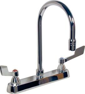 Delta Faucet Teck® 1.5 gpm 3-Hole Double Blade Kitchen Faucet D26C3945