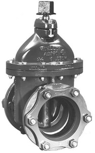 Mueller Ductile Iron Push-On x Flange Open Left Less Accessories Resilient Wedge Gate Valve MA236243E38OL