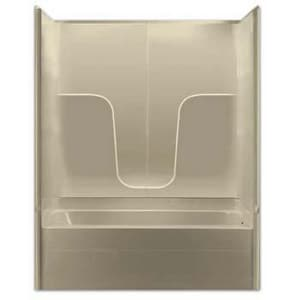 Aquarius Industries Luxury 60 x 32-1/2 in. Tub and Shower with Left Hand Drain in White AG3260TS3PLWH