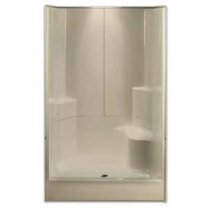Aquarius Industries Luxury 48 x 48 in. Shower with Left Hand Seat in White AG4887SH3P1SLWH