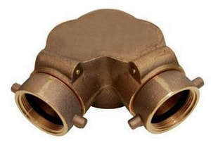 Dixon Valve & Coupling 6 x 2-1/2 in. Female Angle Siamese Cast Brass Connector Auto Sprinkler D90DCS6025F