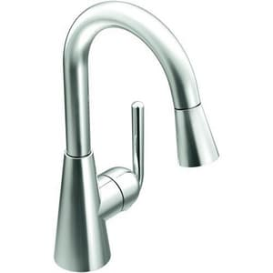 Moen Ascent™ 1-Hole High Arc Pull-Out Bar or Prep Faucet with Single Lever Handle MS61708