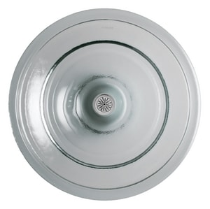 Kohler Spun Glass® 17-1/2 in. Vessel Drop-In Above Counter or Wall Mount Bathroom Sink K2276