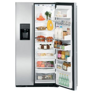 General Electric Appliances Monogram® Free Standing Side-by-Side Refrigerator GZFSB25DXSS