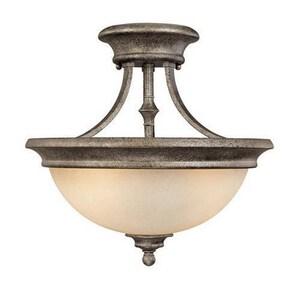 Capital Lighting Fixture Belmont 14 x 14-1/2 in. 100 W 2-Light Medium Semi-Flush Mount Ceiling Fixture C3418