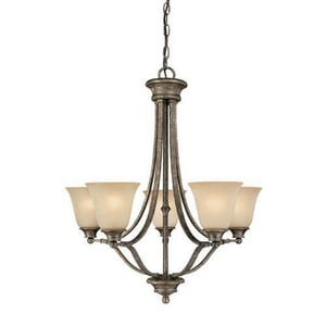 Capital Lighting Fixture Belmont 28 in. 100 W 5-Light Medium Chandelier C3415287