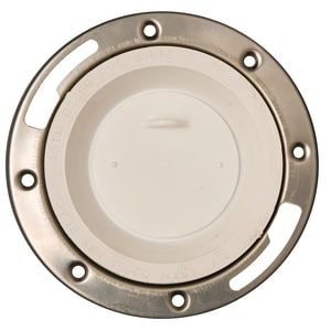 PROFLO 4 x 3 PVC P-N-P Closet Flange With Stainless Steel Ring PF4134P
