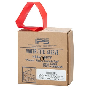 Weld-On Pipe Protection Sleeve in Red I83400