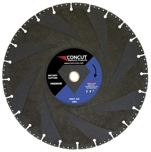 Concut Diamond Products Vacuum Brazed Blade Black Pipe CMAGNUM14