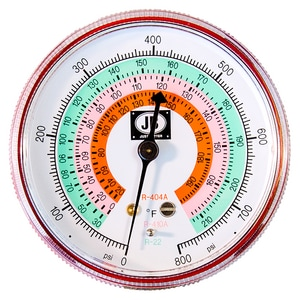 JB Industries Steel Case Pressure Gauge JM2465