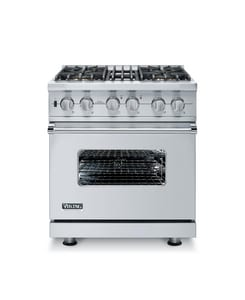 Viking Range 30 in. 4 Solid-Burner Self Cleaning Free Standing Gas Range in Stainless Steel VVGSC5304BSS