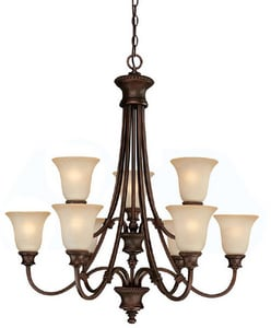 Capital Lighting Fixture Hill House 33-1/2 in. 60 W 9-Light Medium Chandelier C3569BB252