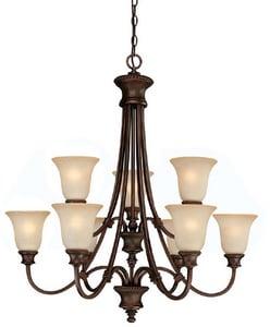 Capital Lighting Fixture Hill House 33-1/2 in. 60 W 9-Light Medium Chandelier C3569BB252