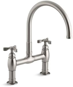 Kohler Parq® 3-Hole Kitchen Sink Faucet with Double Tri Handle K6130-3