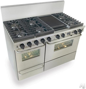 Fivestar 48 in. Dual Fuel with Grill and Griddle Range FTTN5377BW