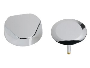 Geberit TurnControl™ 2 in. Bath Waste and Overflow System Trim Kit in ForeverShine PVD Bright Brass G151551GG1