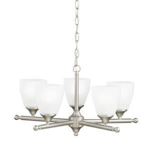 Kichler Lighting Ansonia 100 W 5-Light Medium Chandelier with Satin Etched KK1748NI