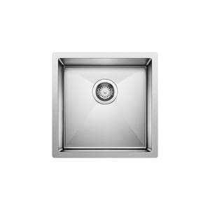 Blanco America Precision™ R10 17 x 17 x 8 in. Single Bowl Undermount Bar Sink No Hole B515638