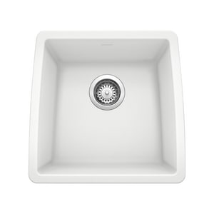 Blanco America Performa™ 17-1/2 x 17 in. Single Bowl Undermount Granite Bar Sink No Hole B44008