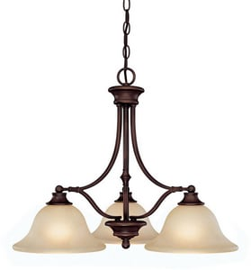 Capital Lighting Fixture Belmont 19-1/2 in. 100 W 3-Light Medium Chandelier C3413259