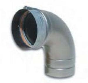 Noritz America Stainless Steel N-Vent 90 Degree Elbow NVP90ELBOW