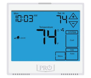 Pro1 IAQ Touch Screen 1 Heat 1 Cool Stat PROT905