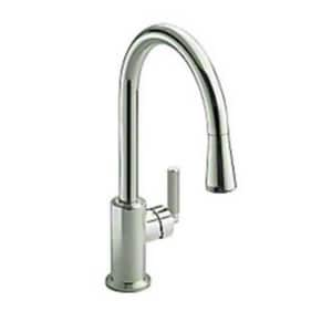 Kallista 1.8 gpm Single Hole Single Lever Handle Kitchen Pull-Down Faucet KP2306500CP