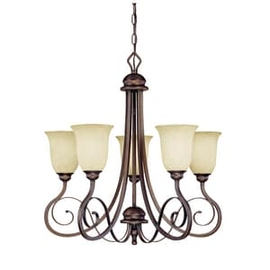 Millennium Lighting Chateau 100 W 5-Light Chandelier in Rubbed Bronze M1055RBZ