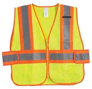 Jackson Safety Vest ANSI Class 2 Two-Tone Safety Vest with Lime Mesh Orange Trim J20298