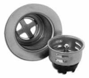JB Products Basket Strainer Less Tailpiece in Polished Chrome JJB300