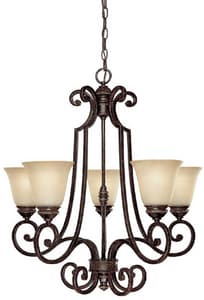 Capital Lighting Fixture Barclay 100 W 5-Light Chandelier C3585287