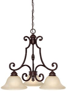 Capital Lighting Fixture Barclay 100 W 3-Light Medium Pendant Chandelier C3583259