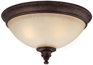 Capital Lighting Fixture Hill House 6-1/2 x 13 in. 60 W 2-Light Medium Flush Mount Ceiling Fixture in Burnished Bronze C2273BB