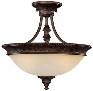 Capital Lighting Fixture Hill House 14-1/2 x 16-1/2 in. 100 W 3-Light Medium Semi-Flush Mount Ceiling Fixture C3563BB