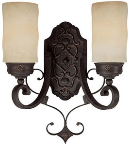 Capital Lighting Fixture River Crest 100 W 7 in. 2-Light Medium Wall Sconce C1907RI125