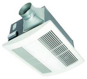 Panasonic Whisperwarm Ceiling Mounted Fan Heat Light Combination 110 Cfm Fv 11vhl2 Ferguson