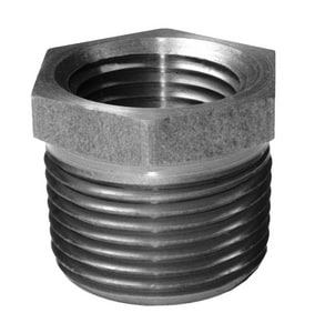 3/8 x 1/8 in. Threaded Galvanized Steel Hex Bushing GSHBCA