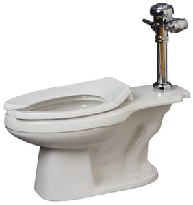 PROFLO® Elongated Floor Mount Toilet Bowl in White PF1721WH